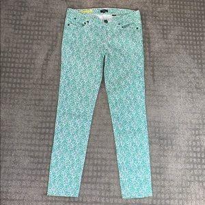 J. Crew Floral Print Jeans